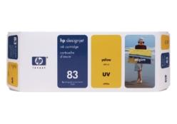 HP 83 (C4943A) UV inktcartridge geel (origineel)
