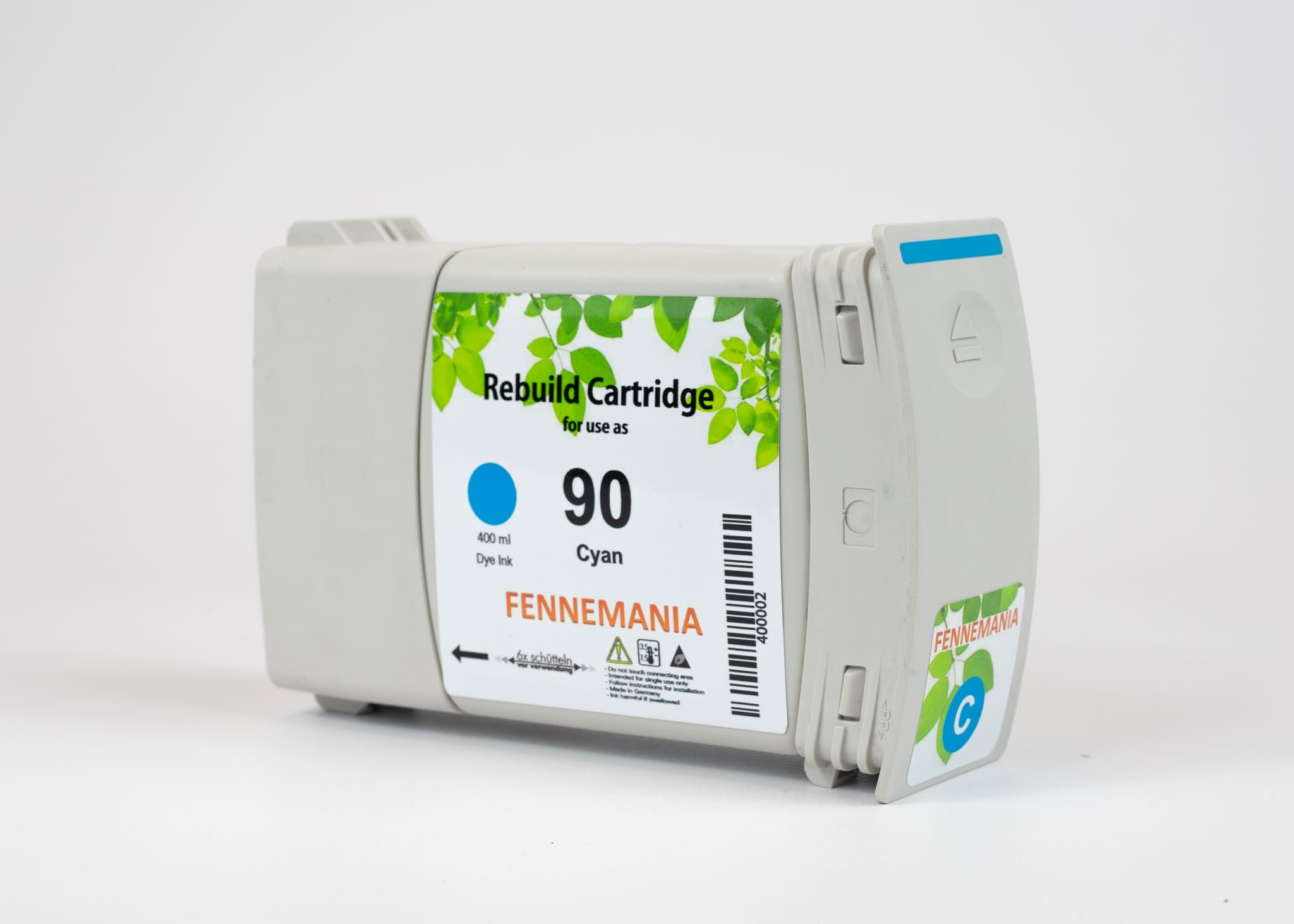 HP 90 400-ml Cyan DesignJet Ink Cartridge(C5061A)