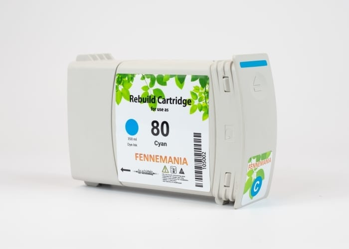 HP 80 350-ml Cyan DesignJet Ink Cartridge(C4846A)