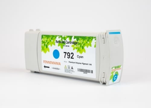 HP 792 775-ml Cyan Latex DesignJet Ink Cartridge(CH706A)
