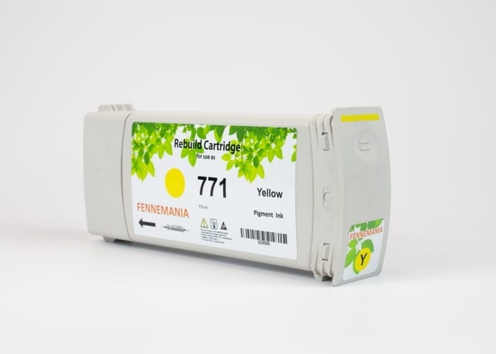 HP 771A 775-ml Yellow DesignJet Ink Cartridge(B6Y18A)