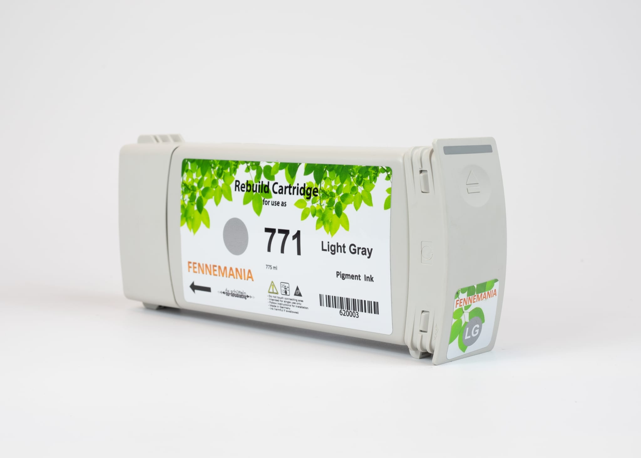 HP 771A 775-ml Light Grey DesignJet Ink Cartridge(B6Y22A)