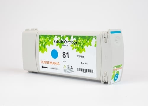 HP 81 680-ml Cyan DesignJet Dye Ink Cartridge(C4931A)