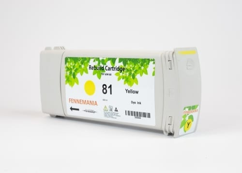 HP 81 680-ml Yellow DesignJet Dye Ink Cartridge(C4933A)