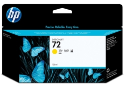 HP 72 originele ink cartridge geel 130ml. (C9373A)